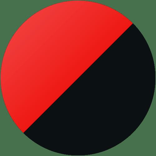 Rostfritt pulverlackad röd/svart